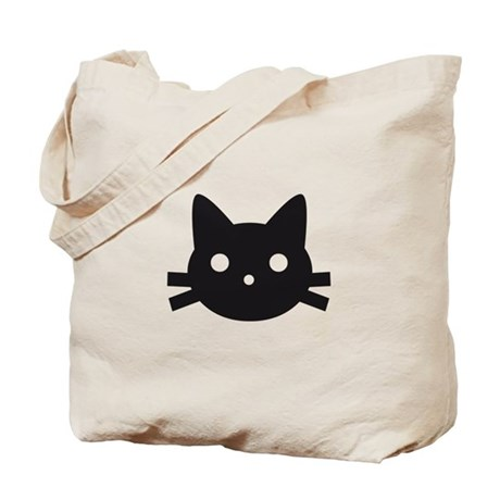 Black cat face design Tote Bag