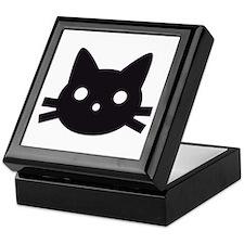 Black cat face design Keepsake Box