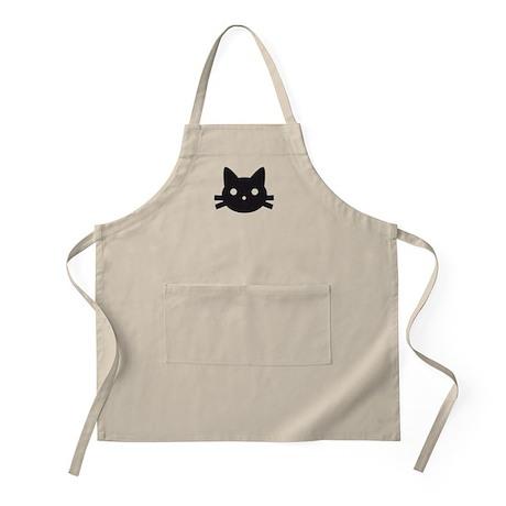 Black cat face design Apron
