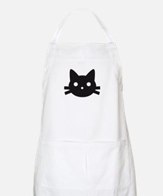 Black cat face design Apron