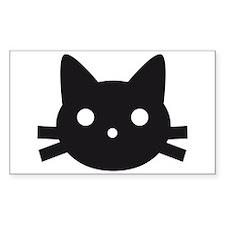 Black cat face design Decal