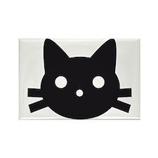 Black cat face design Rectangle Magnet