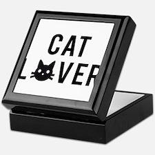 Cat lover with black cat face Keepsake Box