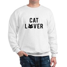 Cat lover with black cat face Sweatshirt