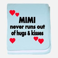 MIMI NEVER RUNS OUT OF HUGS KISSES baby blanket