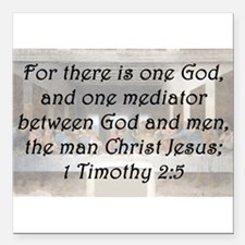"1 Timothy 2:5 Square Car Magnet 3"" x 3"""