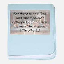 1 Timothy 2:5 baby blanket