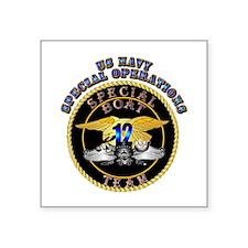 "SOF - Special Boat Team 12 Square Sticker 3"" x 3"""
