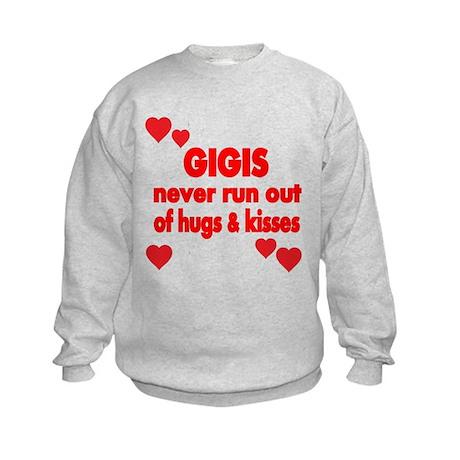 GIGIS NEVER RUN OUT OF HUGS KISSES Sweatshirt