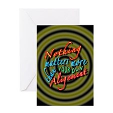Alignment-40B2 Greeting Cards