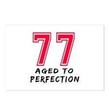 77 Year birthday designs Postcards (Package of 8)