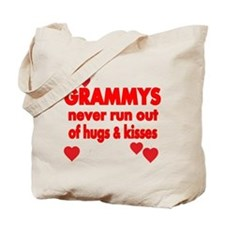GRAMMYS NEVER RUN OUT OF HUGS KISSES Tote Bag