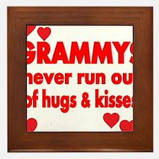 GRAMMYS NEVER RUN OUT OF HUGS KISSES Framed Tile