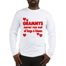 GRAMMYS NEVER RUN OUT OF HUGS KISSES Long Sleeve T