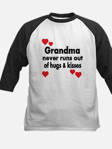 GRANDMA NEVER RUNS OUT OF HUGS KISSES Baseball Jer