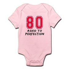 80 Year birthday designs Infant Bodysuit