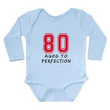 80 Year birthday designs Long Sleeve Infant Bodysu