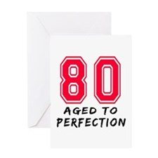 80 Year birthday designs Greeting Card