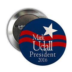 """Mark Udall for President in 2016 2.25"""" Button"""