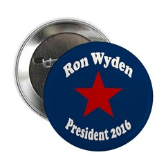 Ron Wyden for President in 2016 campaign butto