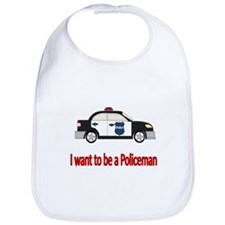 I want to be a policeman Bib