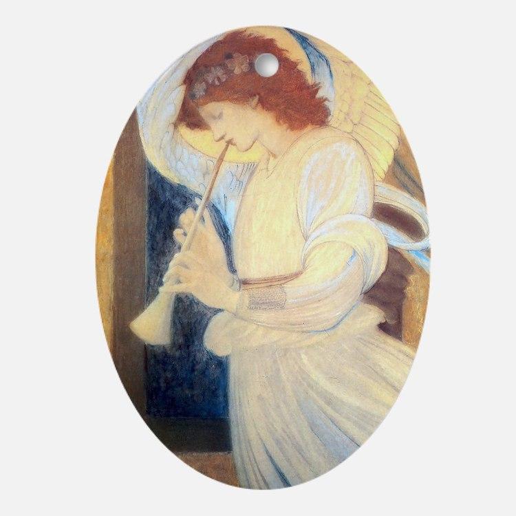 Pre-Raphealite Angel Holiday/ Oval Ornament