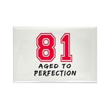 81 Year birthday designs Rectangle Magnet