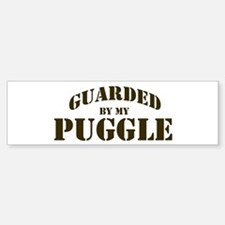 Puggle: Guarded by Bumper Bumper Bumper Sticker