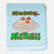 Funny Ask Me About My Meatballs Food Innuendo baby