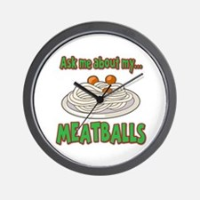 Funny Ask Me About My Meatballs Food Innuendo Wall