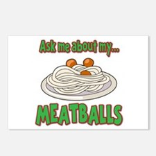 Funny Ask Me About My Meatballs Food Innuendo Post