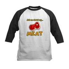 Funny Ask Me About My Meat Steak Butcher Humor Kid