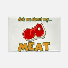 Funny Ask Me About My Meat Steak Butcher Humor Rec