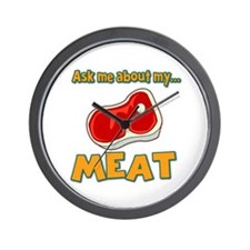 Funny Ask Me About My Meat Steak Butcher Humor Wal