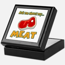 Funny Ask Me About My Meat Steak Butcher Humor Kee