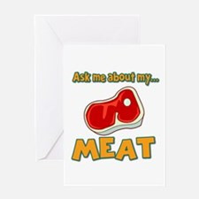 Funny Ask Me About My Meat Steak Butcher Humor Gre