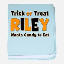Riley Trick or Treat baby blanket