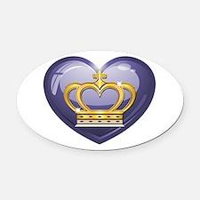 Noble Heart Oval Car Magnet