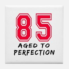85 Year birthday designs Tile Coaster