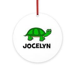 Jocelyn Turtle Gift Ornament (Round)