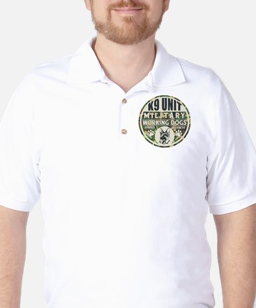 K9 Unit Military Working Dogs Golf Shirt