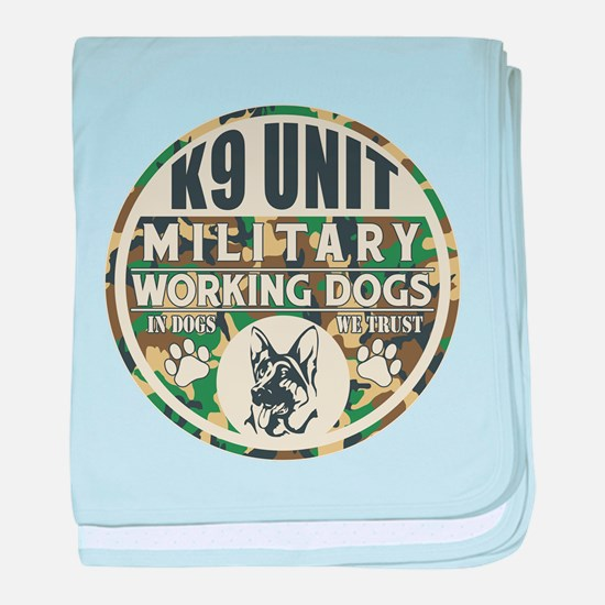 K9 Unit Military Working Dogs baby blanket