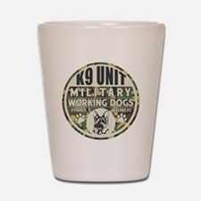 K9 Unit Military Working Dogs Shot Glass