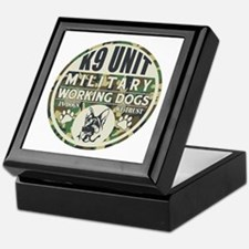 K9 Unit Military Working Dogs Keepsake Box