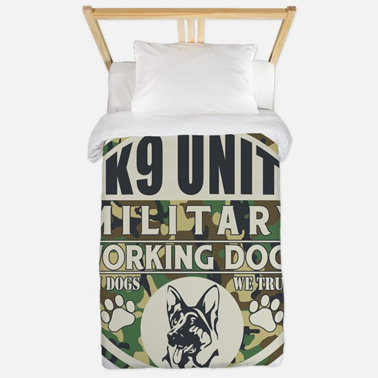 K9 Unit Military Working Dogs Twin Duvet