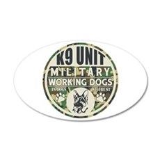 K9 Unit Military Working Dog Wall Decal
