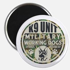 """K9 Unit Military Working Do 2.25"""" Magnet (10 pack)"""