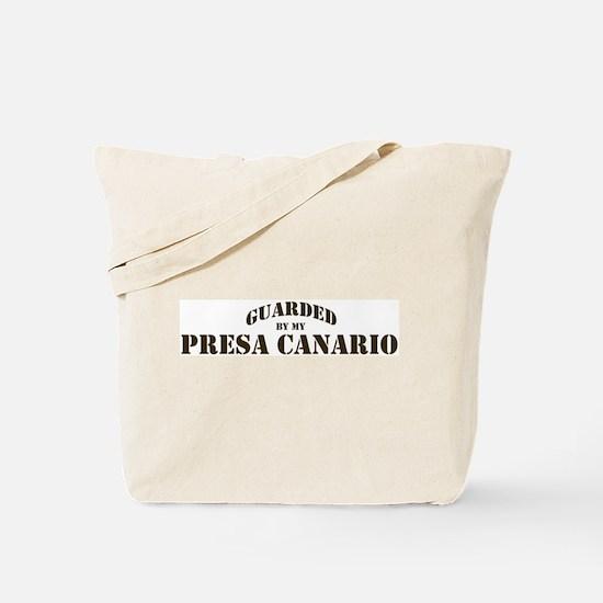 Presa Canario: Guarded by Tote Bag