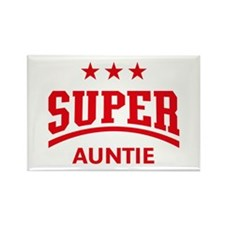 Super Auntie (Red) Rectangle Magnet