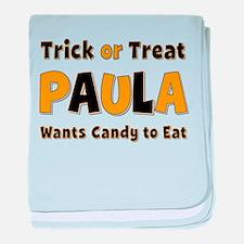 Paula Trick or Treat baby blanket